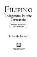 Filipino Indigenous Ethnic Communities