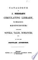 Catalogue of J  Needham s circulating library