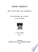 Art criticism and romance; with recollections, and 23 etchings by Anna Lea Merritt