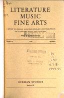 Literature Music Fine Arts
