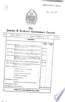 The Jammu and Kashmir Government Gazette