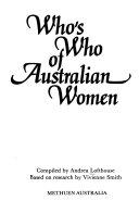 Who s who of Australian Women