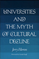 Universities and the Myth of Cultural Decline