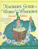 Hacker s Guide to Word for Windows Book