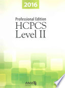 HCPCS 2016 Level II Professional Edition