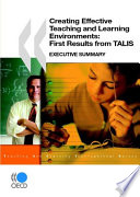 Creating Effective Teaching and Learning Environments  First Results from TALIS Book