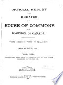 Official Report of Debates  House of Commons Book PDF