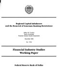 Regional Capital Imbalances and the Removal of Interstate Banking Restrictions