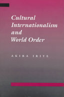 Cultural Internationalism and World Order Book