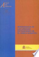 Aprendizaje de las lenguas extranjeras en el marco europeo