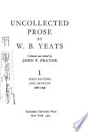 Uncollected Prose: First reviews and articles, 1886-1896