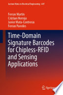 Time-Domain Signature Barcodes for Chipless-RFID and Sensing Applications