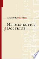 The Hermeneutics Of Doctrine