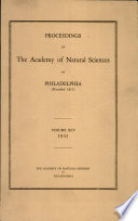 Proceedings Of The Academy Of Natural Sciences Vol Xcv 1943