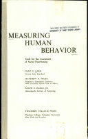 Measuring Human Behavior