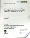 A Technique for Synergistic Atomic Oxygen and Vacuum Ultraviolet Radiation Durability Evaluation of Materials for Use in LEO