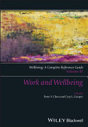 Wellbeing  A Complete Reference Guide  Work and Wellbeing