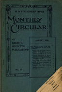Monthly Circular of Recent Selected Publications