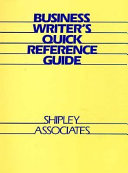 Business Writer s Quick Reference Guide Book
