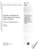 Outsiders and Regional Trade Agreements Among Small Countries