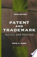 Patent And Trademark Tactics And Practice Book PDF