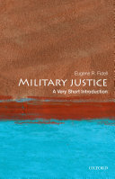 Military Justice: A Very Short Introduction Pdf/ePub eBook