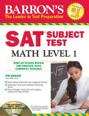 Barron s SAT Subject Test Math Level 1 with CD ROM  4th Edition Book