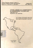 INTER AMERICAN COMPENDIUM OF REGISTERED VETERINARY PRODUCTS  Regulations and Authorities