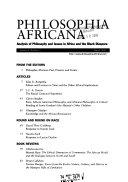 Philosophia Africana Book