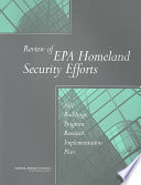 Review Of Epa Homeland Security Efforts Book PDF