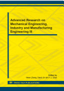 Advanced Research on Mechanical Engineering, Industry and Manufacturing Engineering III [Pdf/ePub] eBook