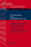 Intelligent Control and Automation Book
