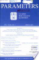 Parameters  : Journal of the US Army War College