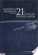 Materials Research to Meet 21st-Century Defense Needs