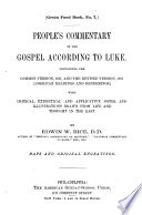 People S Commentary On The Gospel According To Luke
