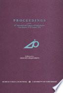 Proceedings of the 20th International Congress of Papyrologists, Copenhagen, 23-29 August, 1992