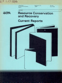 Resource conservation and recovery