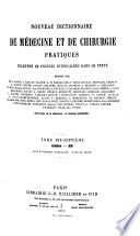 Nouveau dictionnaire de médecine et de chirurgie pratiques