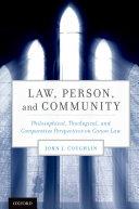 Law, Person, and Community Pdf/ePub eBook