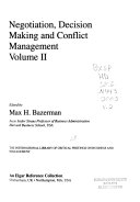Negotiation  Decision Making and Conflict Management