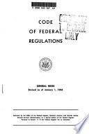 Code Of Federal Regulations General Index