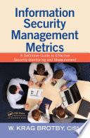 Information Security Management Metrics Book