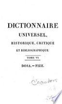 Dictionnaire universel, historique, critique, et bibliographique
