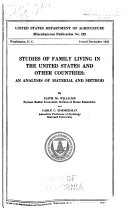 Studies of Family Living in the United States and Other Countries