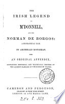 The Irish legend of M Donnell and the Norman De Borgos