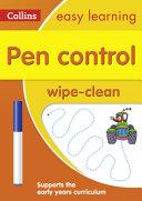 Pen Control Wipe Clean Book