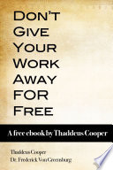 Don T Give Your Work Away For Free