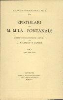 Epistolari - M. Mila i Fontanals