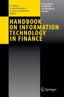 Pdf Handbook on Information Technology in Finance Telecharger