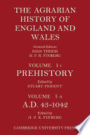 The Agrarian History Of England And Wales Volume 1 Prehistory To Ad 1042